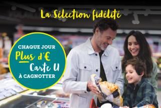 20% en € Carte U sur une sélection de produits
